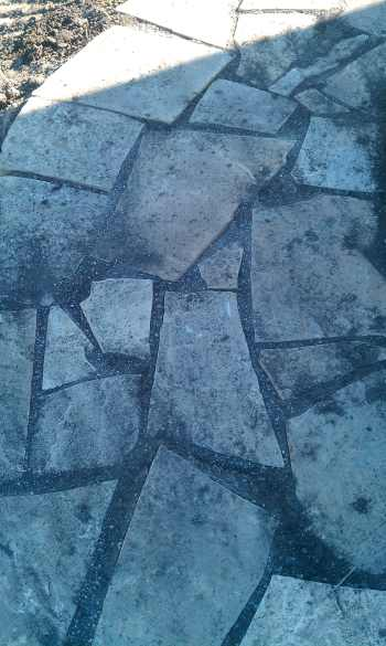 The gaps are inconsistent. The stones were not set properly and became easily dislodged. This project was a fail.