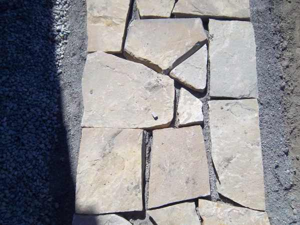 SFlagstone framework for walkway.