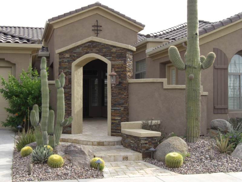 A welcoming entrance to a small courtyard