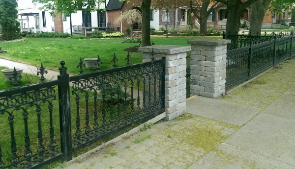 Fence ideas for Brick and wrought iron fence designs