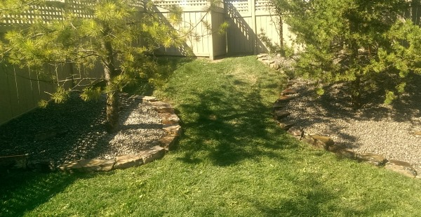Landscape edging ideas like this rock border are easy to install. They also can look good with almost anything, but the price varies substantially depending on where you live.