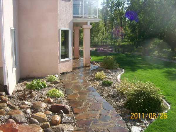 how to build a dry laid flagstone walkway