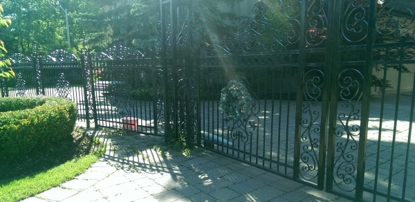 Private residences in more prominent areas often have security gates incorporated into the fencing.