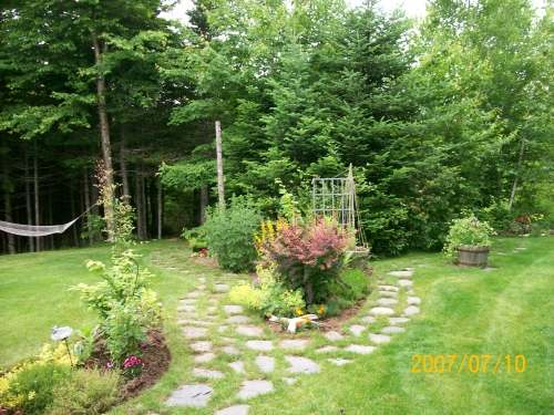 Natural stepping stone walkways are a great way to stroll through gardens.
