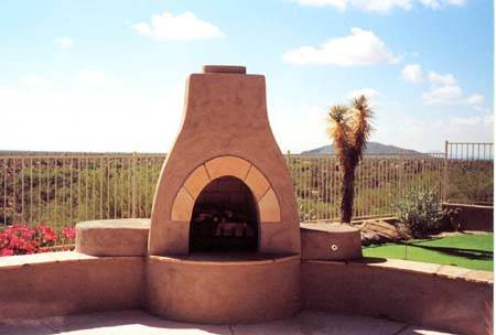 Like an erratic from a glacial retreat, this fireplace stands alone against the desert backdrop.