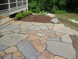 Natural Stone Patio A Great Example Of Well Put Together