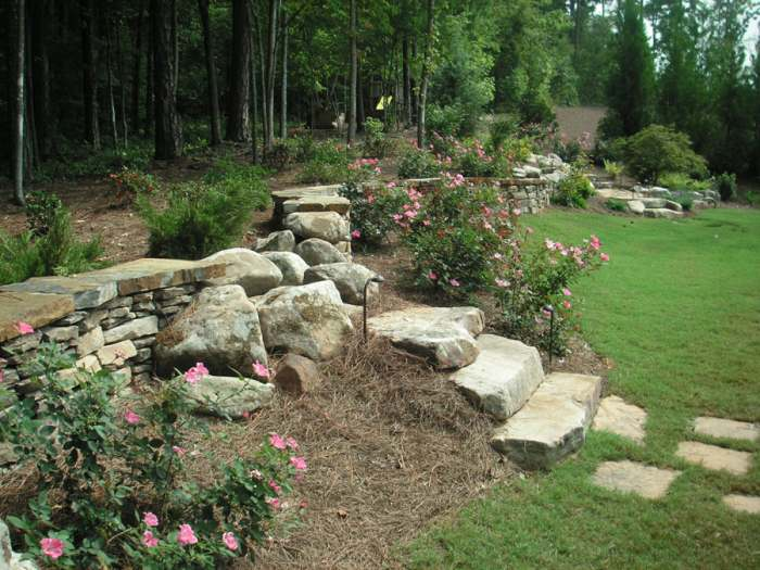 Hillside garden designs : Landscaping hillside landscape ideas