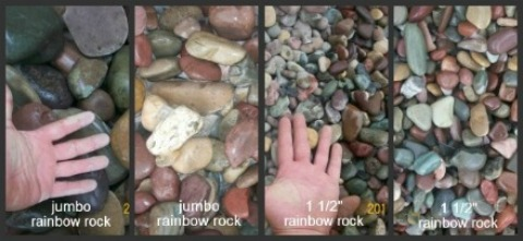 Diffe Sizes Of Rainbow Rocks