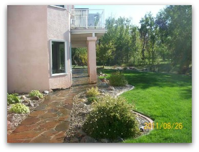 This picture was taken one year after blending soil, new sod, and an old lawn. Patience is a virtue.