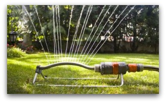 Sprinklers like this are affordable and pretty handy to have for watering lawns. They can be moved so easily.