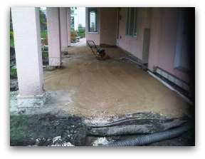 weeping tile and drainage for water problems at the patio.