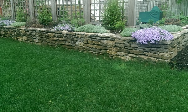 There is nothing like the look of a well built dry stacked fieldstone wall.