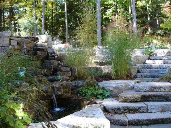 Hillsides are a golden opportunity for a natural looking water feature.