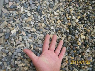 Washed 3/4 inch crushed rock