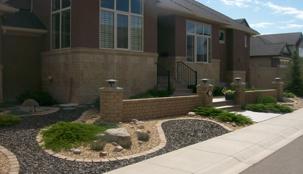 This xeriscaped front yard can be made easily and affordably.